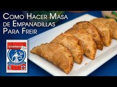Como Hacer Masa de Empanadillas Para Freir Tipo La Cocinera y Relleno - YouTube Spanish Cuisine, Relleno, Food And Drink, Meat, Chicken, Youtube, Cold, Empanada Dough, Finger Foods