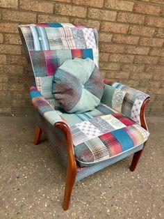 Newly refurbished Vintage Parker Knoll armchair in patchwork design (model 749)