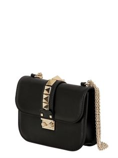 SMALL LOCK NAPPA LEATHER SHOULDER BAG
