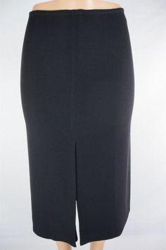 LIDA BADAY Skirt Sz 4 Long Wool Weave