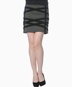 Look at this #zulilyfind! Gray & Black Electra Skirt by smash! #zulilyfinds