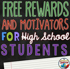 The Classroom Sparrow: High School Student Rewards That Won't Cost You a Penny