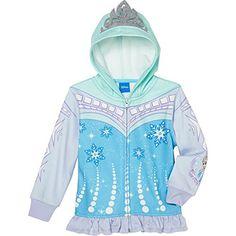 Frozen Girls' Fleece Hoodie-Blue