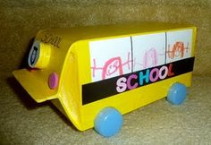 milk carton school bus craft