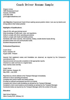 awesome stunning bus driver resume to gain the serious bus driver job check more at - Sample Of A Great Resume