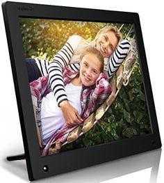 Nixplay 15 inch Wi-Fi Cloud Digital Photo Frame. iPhone & Android App, Email, Facebook, dropbox, Instagram, Picasa – W15A