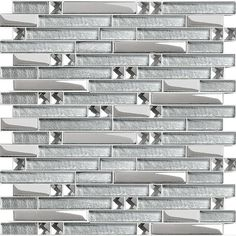 Wholesale Crystal Glass Tile Mosaic sticker silver diamond Interlocking Tiles Mirror Wall designs Discount Tile Backsplash ideas - other details Floor Design, Tile Design, Design Bathroom, Kitchen Design, Bath Design, Bathroom Ideas, Mirror Tiles, Glass Mosaic Tiles, Mirror Bathroom