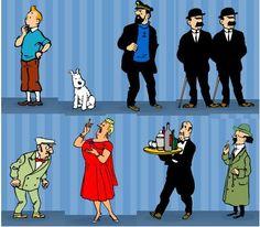 Tintin et les compagnons de Hergé