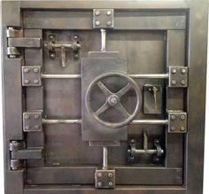 Custom Vintage-Look Industrial Vault Door # 027S  •  Industrial Style Décor by Industrial Evolution Furniture Co.