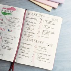 9 Daily Spread Ideas for your Bullet Journal - Planning Routine