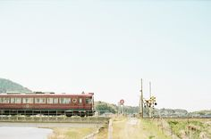 Train in the Japanese countryside