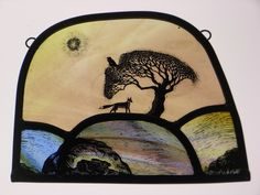 Tamsin Abbott Glass - 'Hare Fox and Raven#
