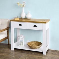 SoBuy® FKW43-WN Table Console 2 tiroirs et 1 étagère, L90…