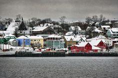 Lunenburg Christmas Eve, Nova Scotia   Canada (by...
