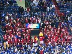 Flash mob during the basketball game. Why I love KU so much