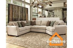 Linen Wilcot 4-Piece Sofa Sectional with Cuddler View 1