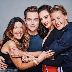 Gal Gadot, Chris Pine, Patty Jenkins and Connie Nielsen