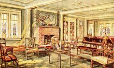 Close-up of the Living Room shown in the 1921 catalog.