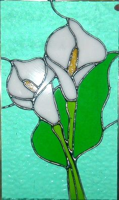 stain glass cali lilly | Calla Lilies Stained Glass Window by windflower on Etsy