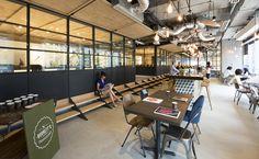 bean buro references ship construction in leo burnett's dynamic hong kong office