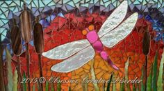 Beautiful Dragonfly Mosaic by OCD Ocd, Mosaics, Stained Glass, Creative, Painting, Beautiful, Mosaic, Painting Art, Stained Glass Windows