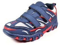 Little Laces Toddler Boys Blue and Red V Sneaker Shoe (Little Kid)