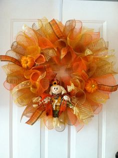 Fall Mesh Wreath.