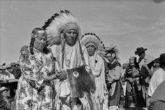 Blackfoot (Kainai) group near Cardston, Alberta - 1953