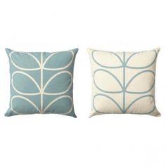 Orla Kiely | Linear Stem Cushion Duck Egg Blue | Hurn & Hurn