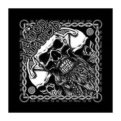 Amon Amarth Bearded Skull Bandana Black