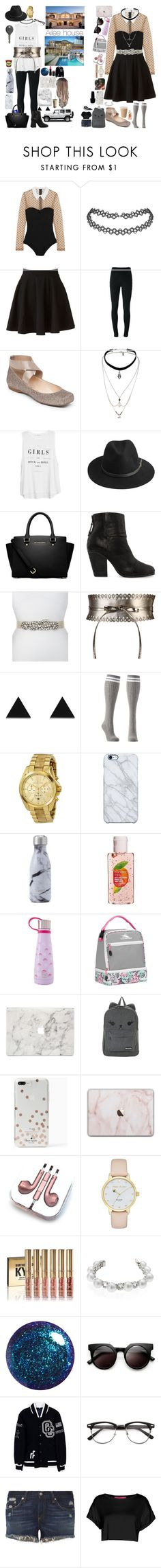 """""""Me going to Ailee's house after school"""" by keeliewatsonoffical ❤ liked on Polyvore featuring Fleur du Mal, LC Lauren Conrad, Givenchy, Topshop, MANGO, BeckSöndergaard, MICHAEL Michael Kors, rag & bone, Deborah Drattell and Wolf & Moon"""