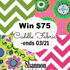 Whimsy Couture Sewing Blog: Giveaway - Shannon Fabrics Cuddle $75