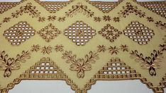 Hardanger embroidery doily