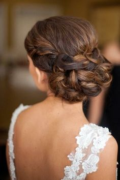 Bride's ornate braided French chignon bun bridal hair ideas Toni Kami Wedding Hairstyles ♥ ❶ Michael Radford photography Bridal Hairstyles With Braids, Bridal Braids, Fancy Hairstyles, Braided Hairstyles, Wedding Hairstyles, Braided Updo, Low Updo, Bridesmaid Hairstyles, Style Hairstyle