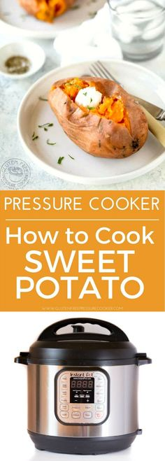 How to cook sweet potatoes in an Instant Pot electric pressure cooker! It's very easy, and of course they are gluten free, paleo, whole30, vegan