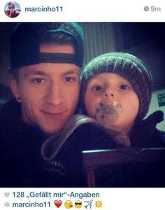 Marco Reus with nephew
