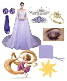 """""""Tangled"""" by irishgirl3333 ❤ liked on Polyvore featuring Disney, Nina, Color My Life and Kartell"""