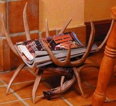 Antler magazine rack...he would like this