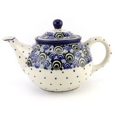 """This bright new pattern has been inspired by the traditional """"peacock eye"""" pattern, I think :) Let's see more #PolishPottery at http://slavicapottery.com now! ポーランド 器"""
