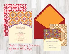 Turkish/Morocco Wedding Invitations by WhoaNelliePress on Etsy, $100.00