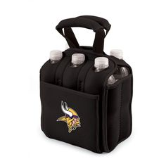 New Black Licensed NFC Minnesota Vikings Six Pack Beverage Cooler Tote  #PicnicTime