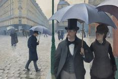 Paris Street; Rainy Day (detail; 1877), Gustave Caillebotte. Photo: Art Institute of Chicago