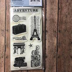 Cloud 9 Design Rubber Cling Stamps. Travel, 66042 Europe, Cameras, Eiffel Tower,9 Stamps, Art Journaling Stamps, Card Making, Scrapbook paperartflower