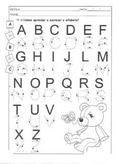 1 million+ Stunning Free Images to Use Anywhere Preschool Learning Activities, Alphabet Activities, Kindergarten Worksheets, Free Printable Alphabet Worksheets, Handwriting Worksheets, Alphabet Writing, Preschool Writing, Numbers Kindergarten, Lettering