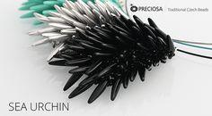 Free tutorial - Spiny pendant made using PRECIOSA Thorn™ beads