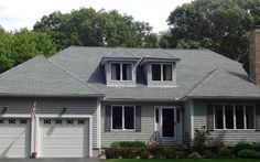 Architectural #Roof Shingles – Mattapoisett, MA, GAF Timberline HD shingles in Oyster Gray