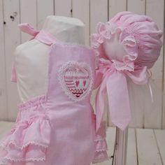 5608e44afe8 Valentine s bubblesuit. Heart bubblesuit. Pink rufflebottom bubblesuit. Smocked  romper. 12 month girls ruffled bubblesuit. Smocked heart.