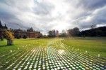 Bruce Munro has created these spectacular light installations by laying out thousands of CDs on the grounds of Waddesdon Manor, a beautiful French chateau in England