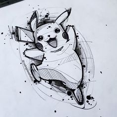 how to draw emojis Tattoo Design Drawings, Pencil Art Drawings, Art Drawings Sketches, Cartoon Drawings, Animal Drawings, Cartoon Art, Pikachu Tattoo, Pikachu Drawing, Pokemon Sketch