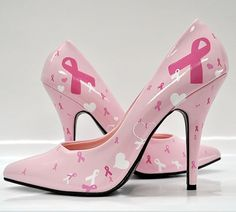 Go pink for breast cancer pumps Breast Cancer Support, Breast Cancer Survivor, Breast Cancer Awareness, Awareness Tattoo, Go Pink, Pink Shoes, Pink Pumps, Girls Be Like, Bad Girls